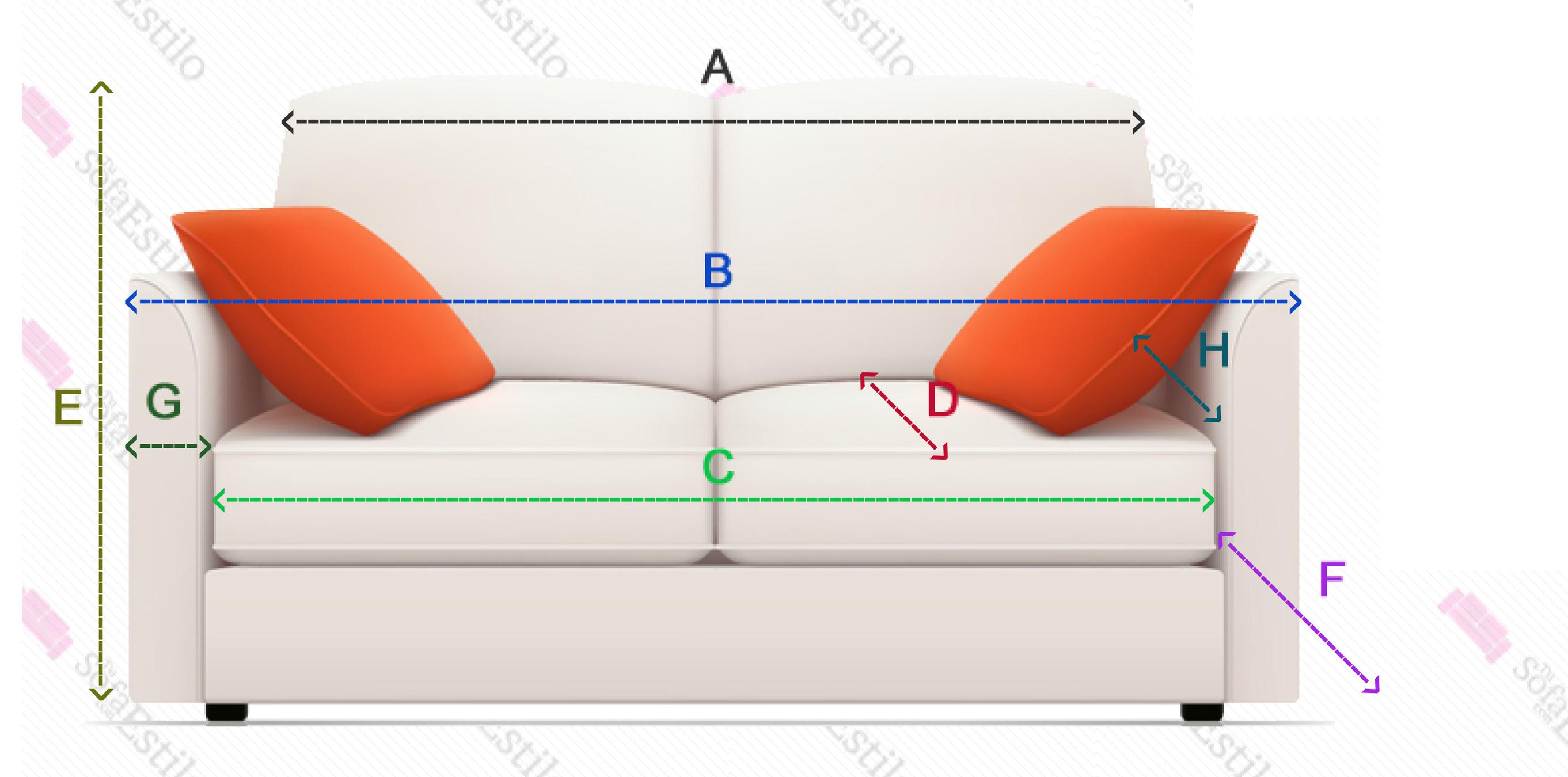 Medidas sof fundas de sof fundas sof el sticas - Fundas elasticas para sofa ...