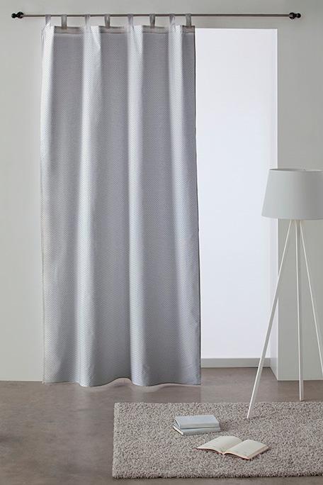 Cortina trabilla, modelo Circle gris