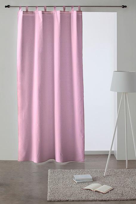 Cortina trabilla, modelo Circle rosa