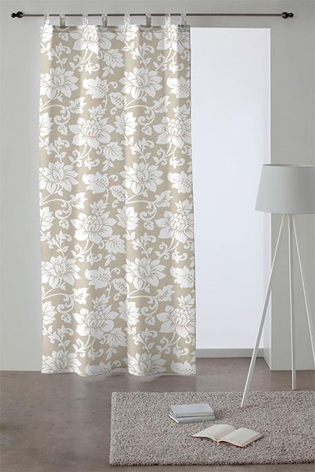 Cortina trabilla, modelo Marsala beige