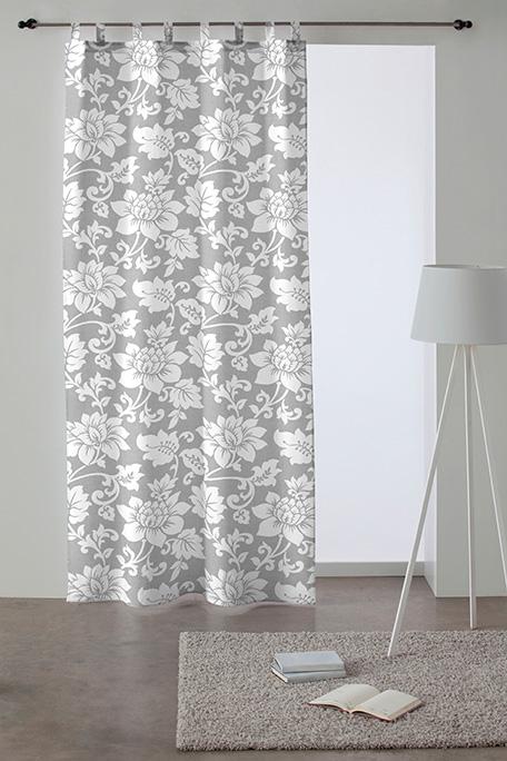 Cortina trabilla, modelo Marsala gris
