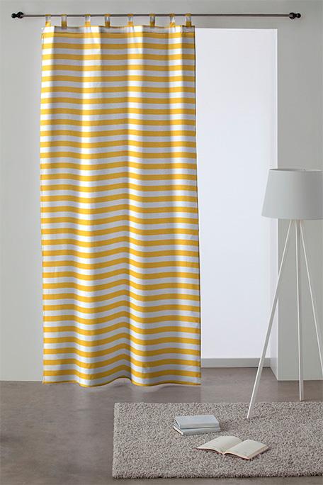 Cortina trabilla, modelo Moraira amarillo