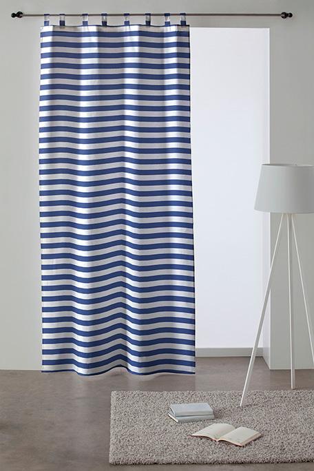 Cortina trabilla, modelo Moraira azul