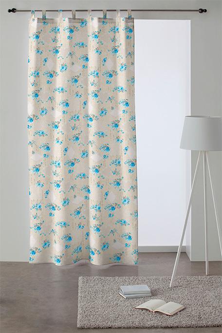 Cortina trabilla, modelo Romantic azul