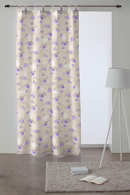 Cortina trabilla, modelo Romantic lila