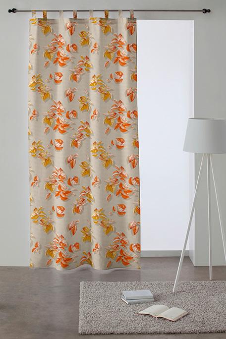 Cortina trabilla, modelo Tardor naranja