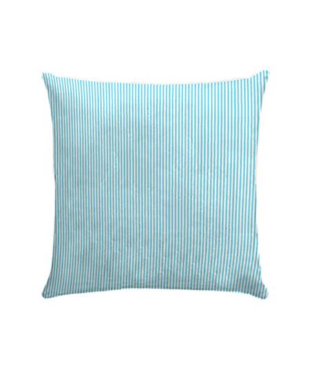 Funda cojín loneta, modelo Candy stripe azul
