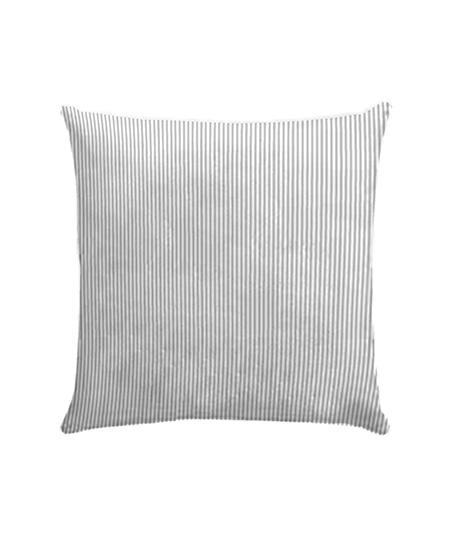 Funda cojín loneta, modelo Candy stripe gris