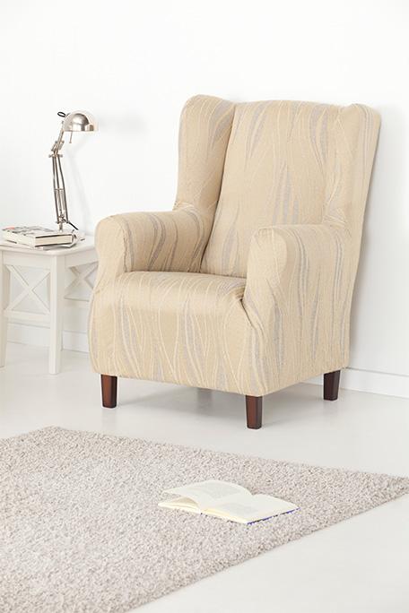 Funda de sillón orejero, modelo Isabela