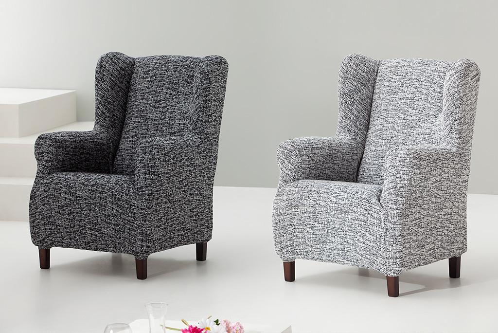Funda de sill n orejero modelo malta fundas sof s - Fundas para sofas con cheslong ...