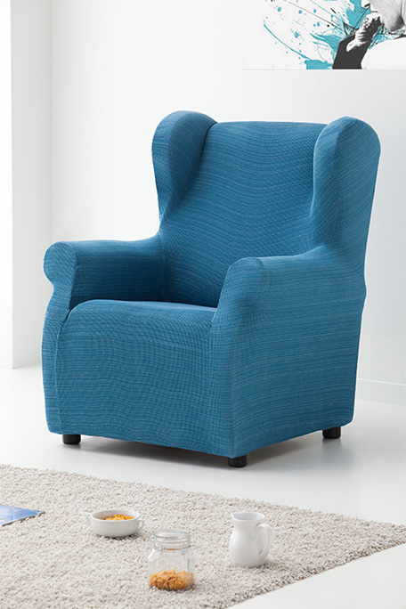 Funda de sillón orejero, modelo Rústica