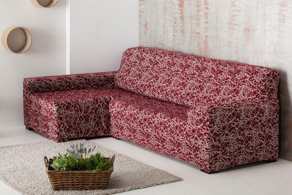 Funda de sofá chaiselongue elástica, modelo Nica