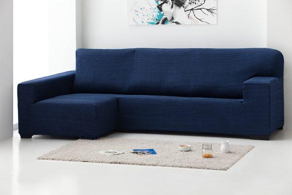 Funda de sofá chaiselongue elástica, modelo Rústica