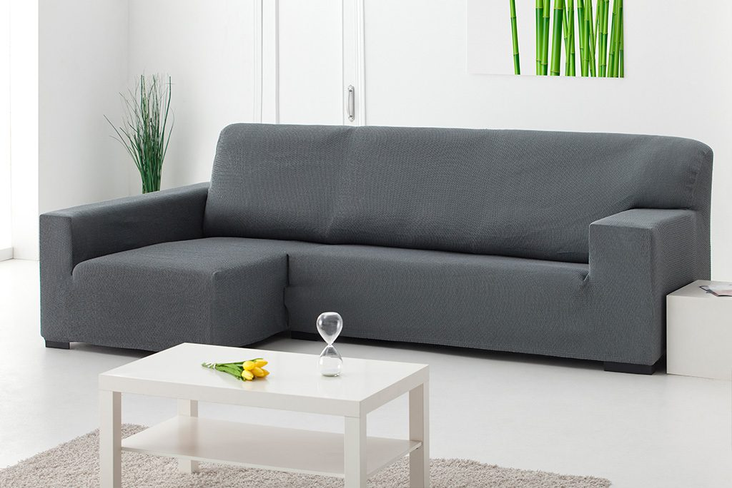Funda de sofá chaiselongue elástica, modelo Túnez