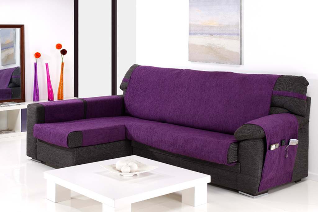 Funda de sof chaiselongue modelo altea fundas para - Funda de sofa chaise longue ...