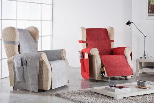 Funda cubresofá, sillón orejero, modelo Carla