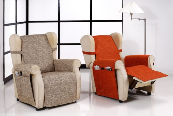 Funda cubresofá, sillón orejero, modelo Malta