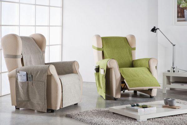 Funda cubresofá, sillón orejero, modelo Petra