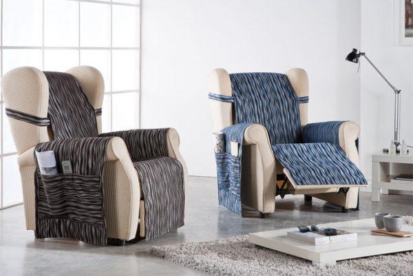 Funda cubresofá, sillón orejero, modelo Tuareg
