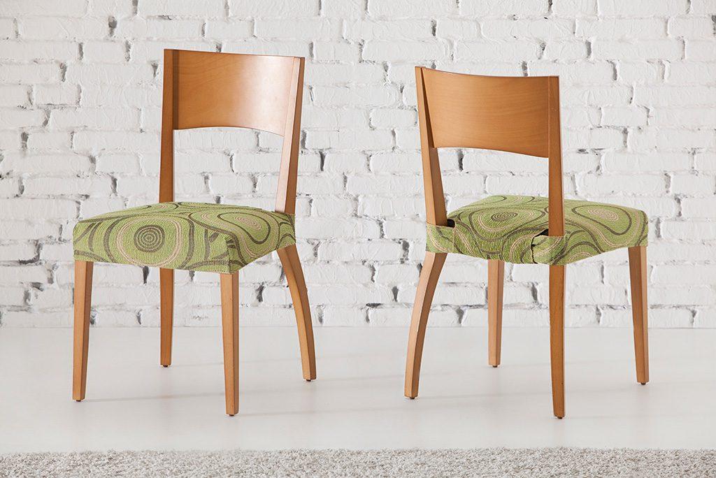 Funda para silla con respaldo modelo marbella fundas - Fundas ajustables para sillas ...