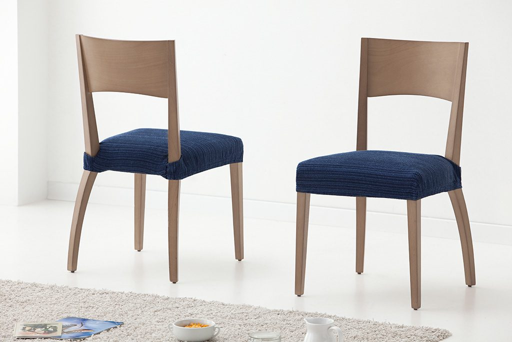 Funda para silla modelo r stica fundas el sticas para for Sillas naranjas baratas