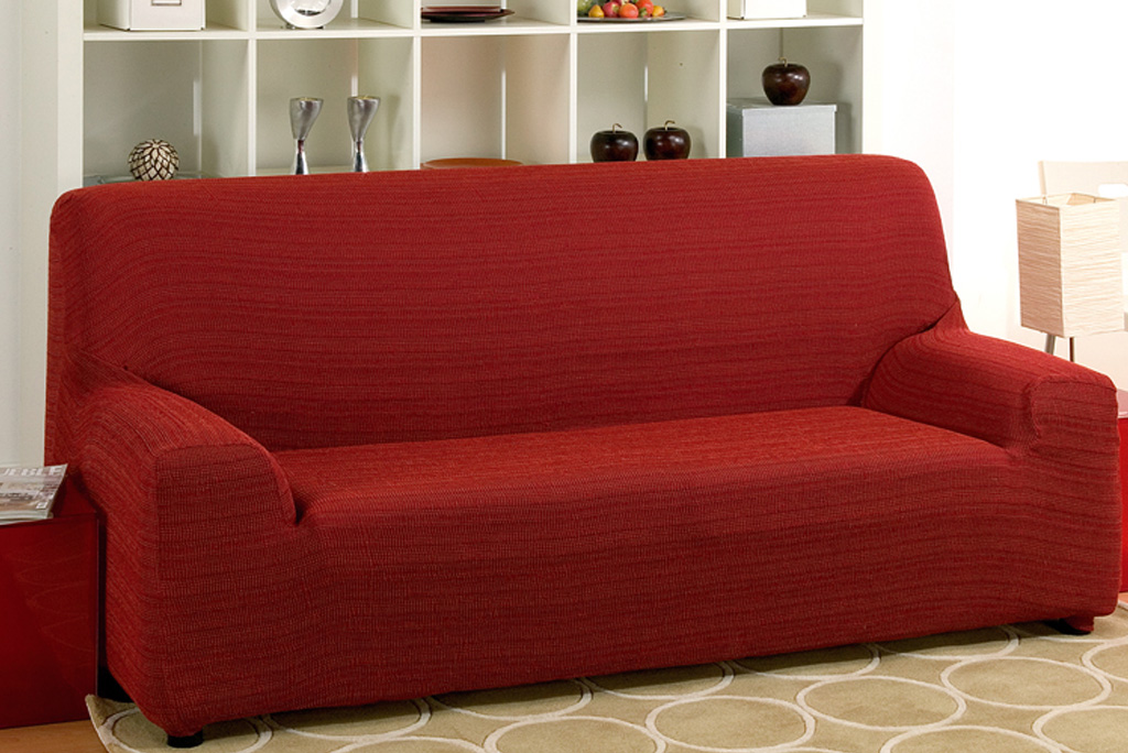 Funda de sof el stica modelo r stica fundas sof s for Sofas por 50 euros