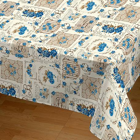 Mantel antimanchas, modelo Garden azul