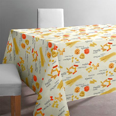 Mantel antimanchas, modelo Pasta beige