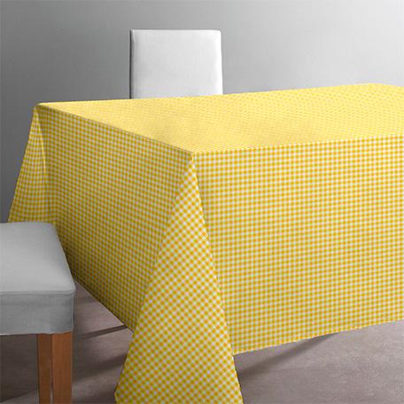 Mantel antimanchas, modelo Petit vichy amarillo