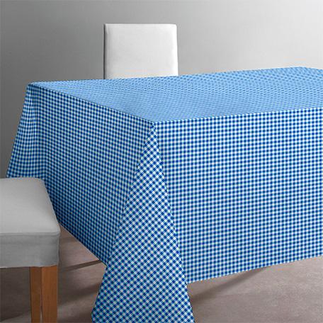 Mantel antimanchas, modelo Petit vichy azul