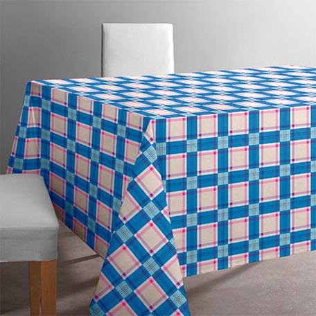 Mantel antimanchas, modelo Pireo azul
