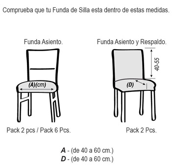Funda para silla con respaldo modelo malta ideal para for Sillas para ninos medidas