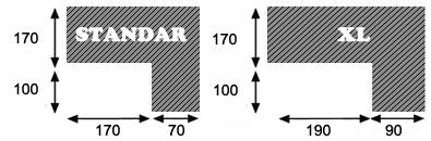 Medidas sofá, Grupo Cintia Textil