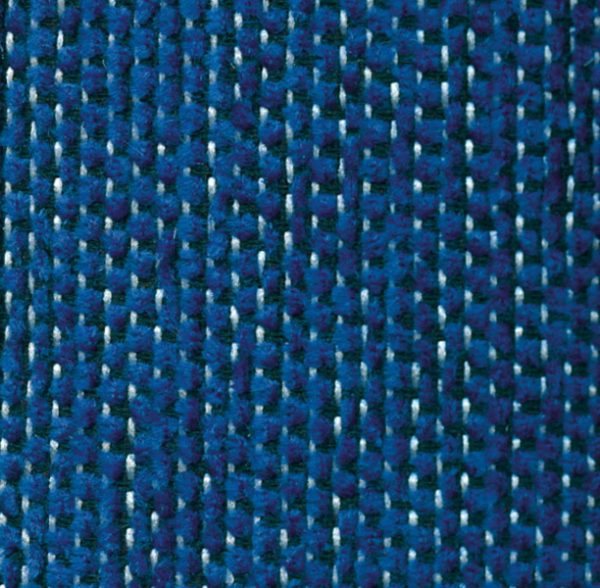Tela, color azul, tapicería, modelo Carla