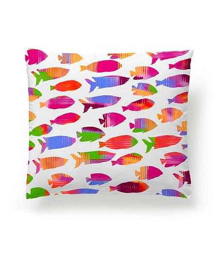Funda cojín digital, modelo Fish naranja, cara A