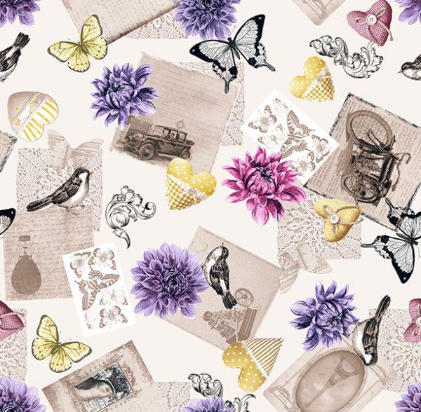 Metrajes, telas por metros, Antique lila