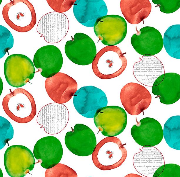 Metrajes, telas por metros, Apple rojo