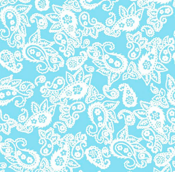 Metrajes, telas por metros, Candy cachemir azul