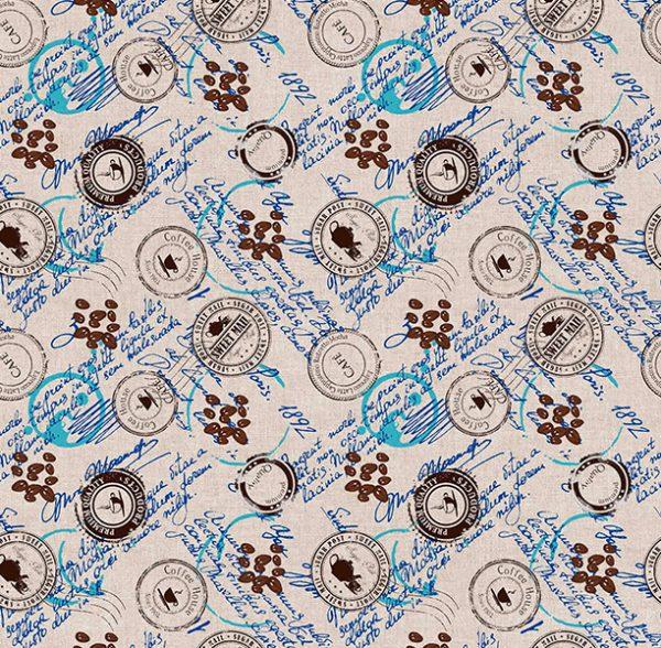 Metrajes, telas por metros, Coffee azul