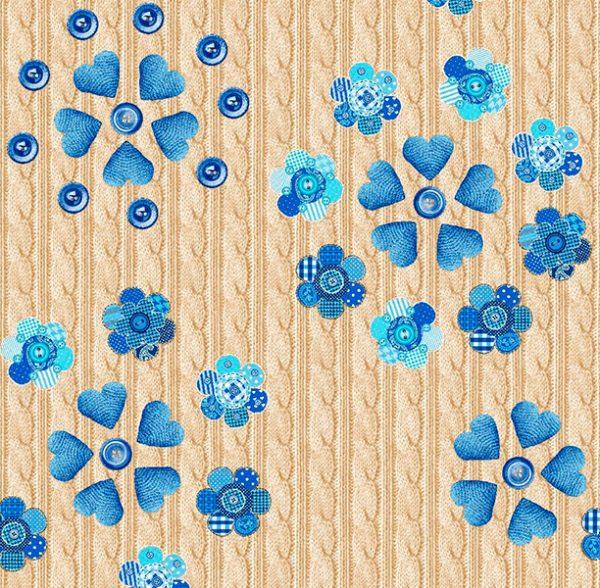 Metrajes, telas por metros, Cupido azul