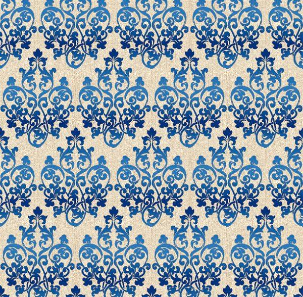 Metrajes, telas por metros, Damasco azul