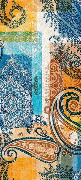 Metrajes, telas por metros, Eugenia azul