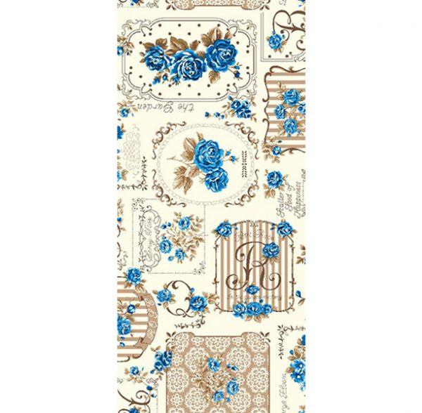 Metrajes, telas por metros, Garden azul 2
