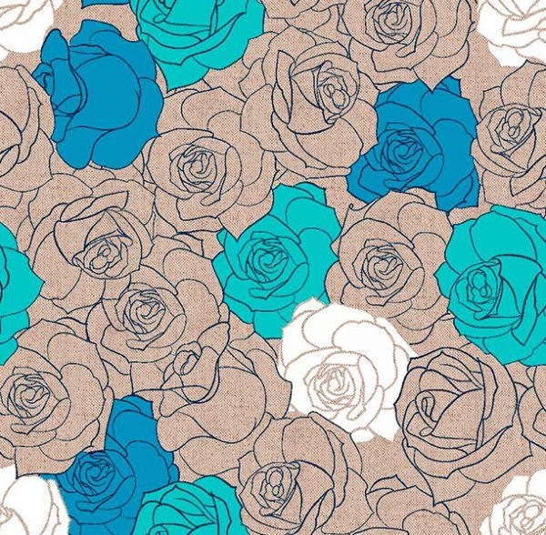 Metrajes, telas por metros, Margot azul
