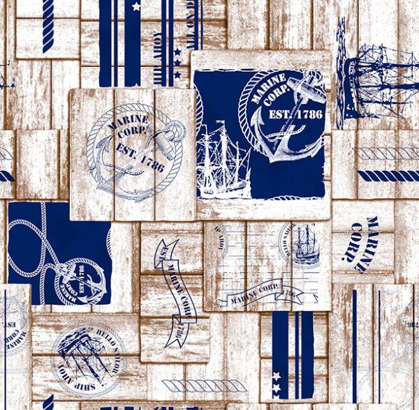Metrajes, telas por metros, Marine azul