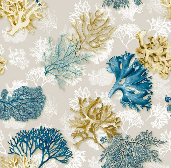 Metrajes, telas por metros, Ocean azul