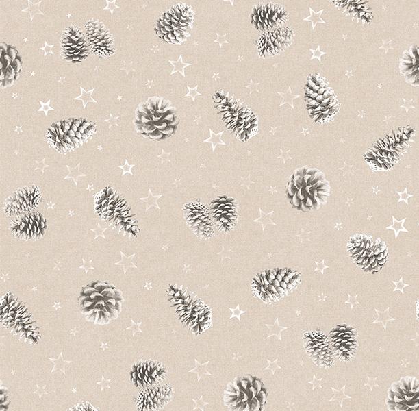 Metrajes, telas por metros, Piñas gris