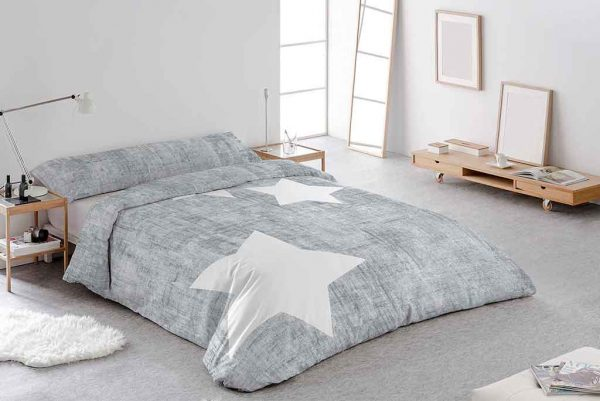 Funda nórdica Estrella gris