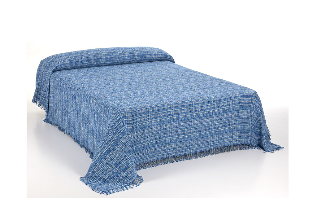 foulard jaspe cama azul