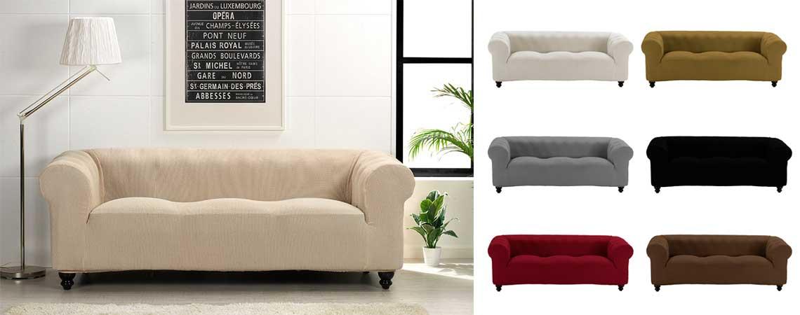 Funda para sof chester fundas multiel stica para sof chester - Fundas sofas ajustables ...